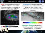 7 hurricane testbed demonstration