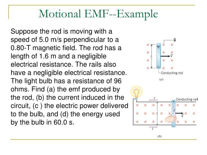 Motional EMF--Example