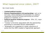 what happened since lisbon 20071