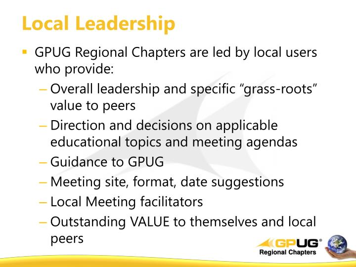 Local leadership