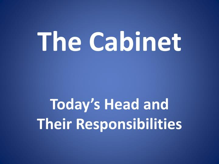 the cabinet n.