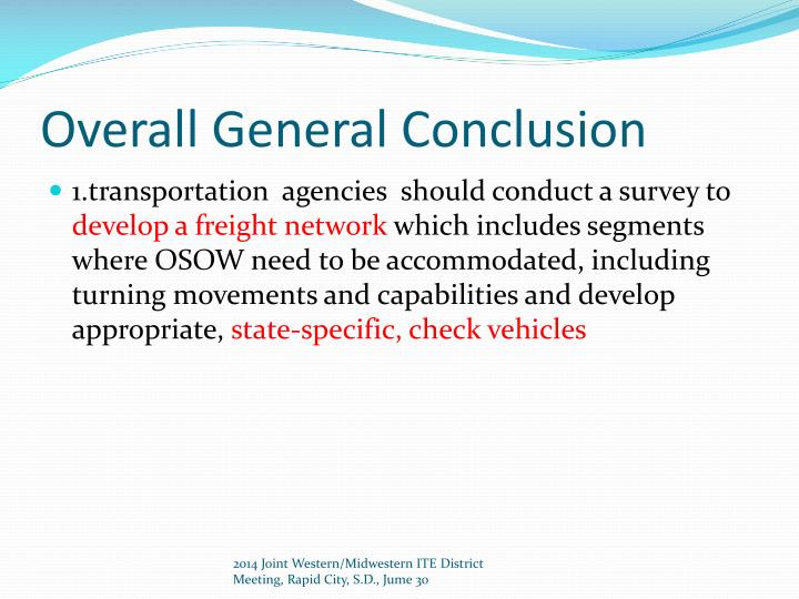 Overall General Conclusion