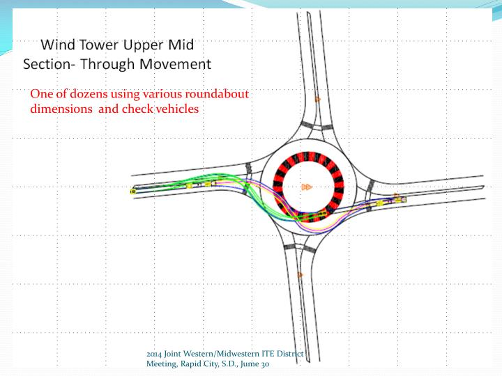 One of dozens using various roundabout dimensions  and check vehicles