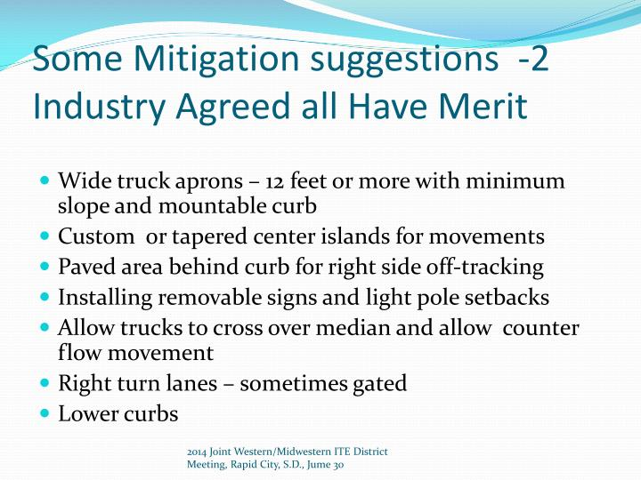 Some Mitigation suggestions