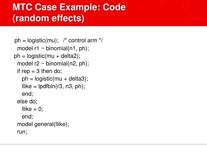 MTC Case Example: Code