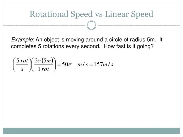 Rotational Speed