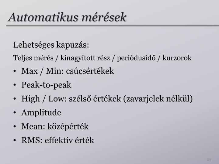 Automatikus mérések