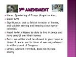 3 rd amendment