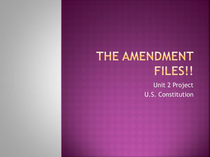 the amendment files n.
