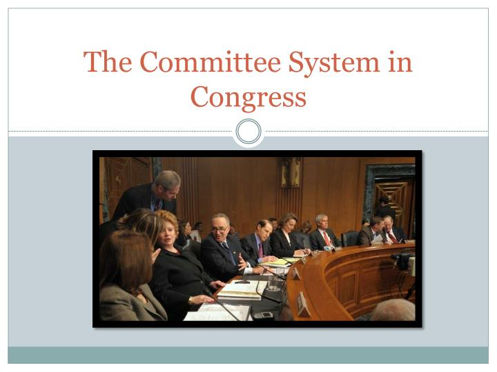 the committee system in congress