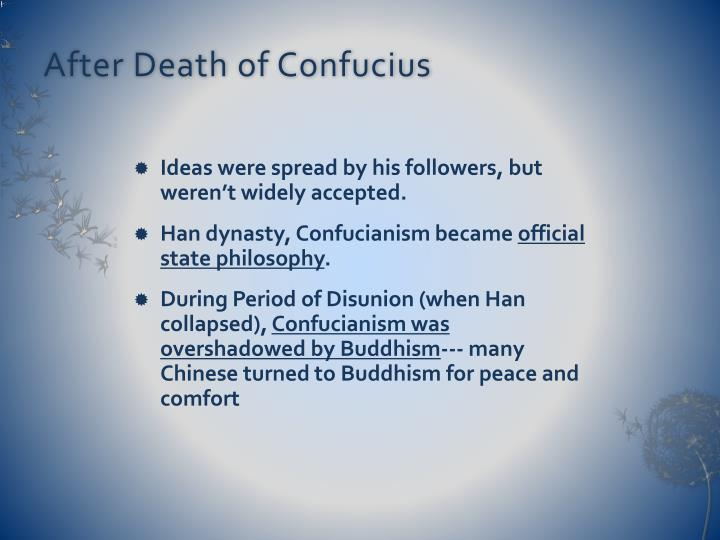After Death of Confucius