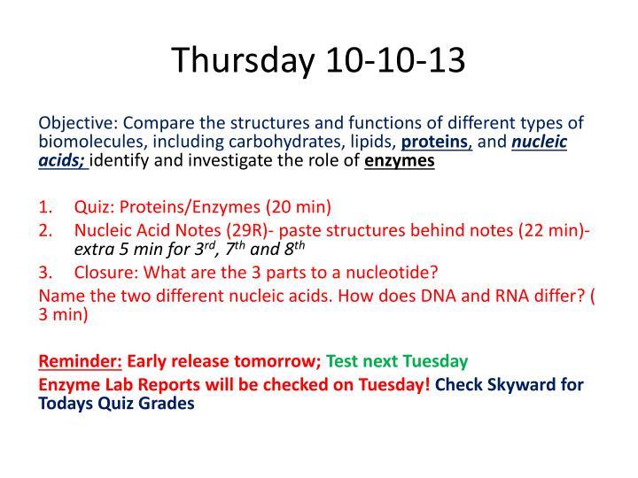 Thursday 10-10-13