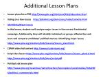 additional lesson plans