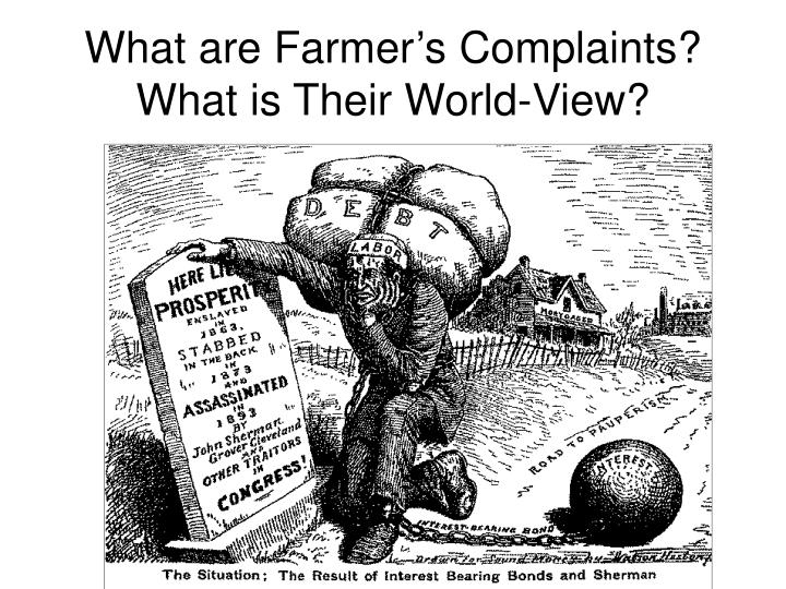 What are Farmer's Complaints?  What is Their World-View?