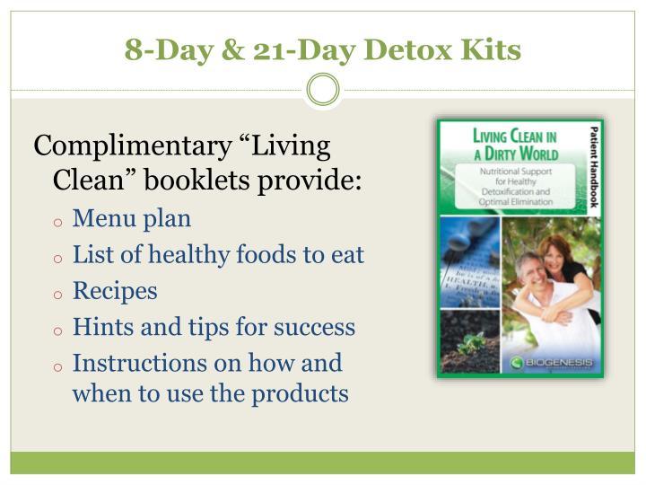 8-Day & 21-Day Detox Kits