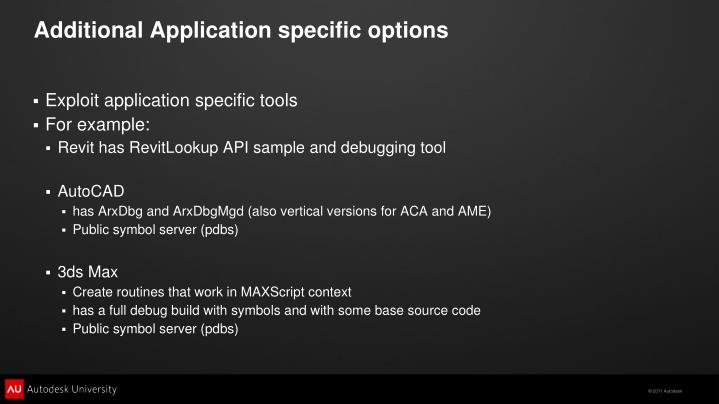 Additional Application