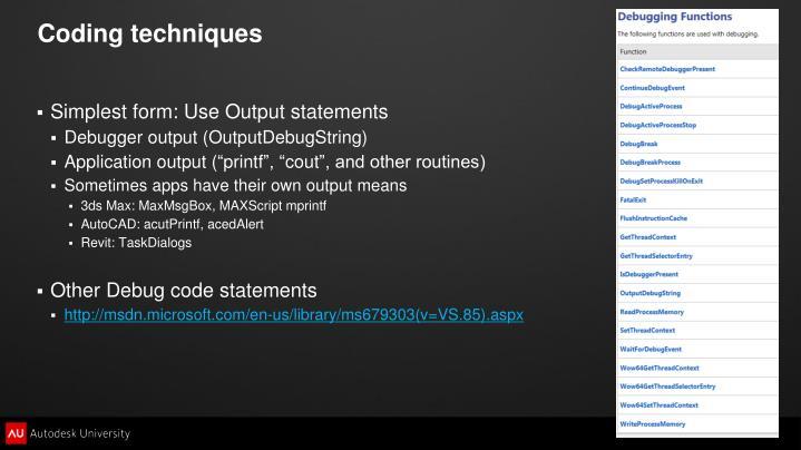Coding techniques