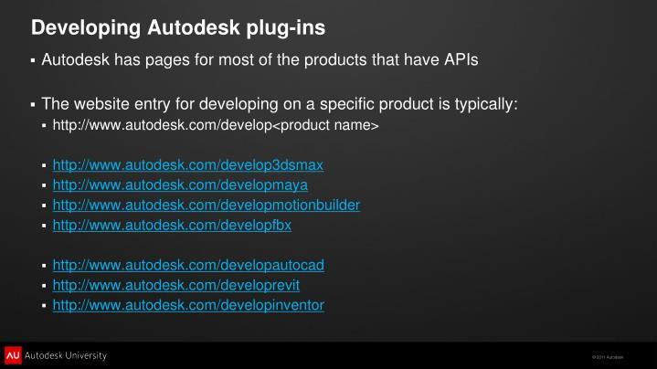 Developing Autodesk plug-ins