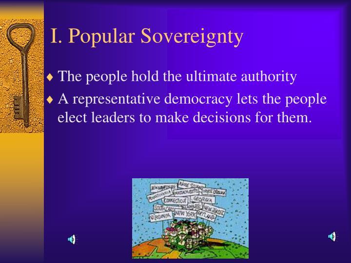 I popular sovereignty