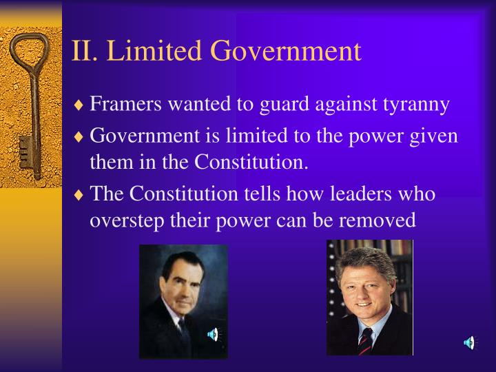 Ii limited government