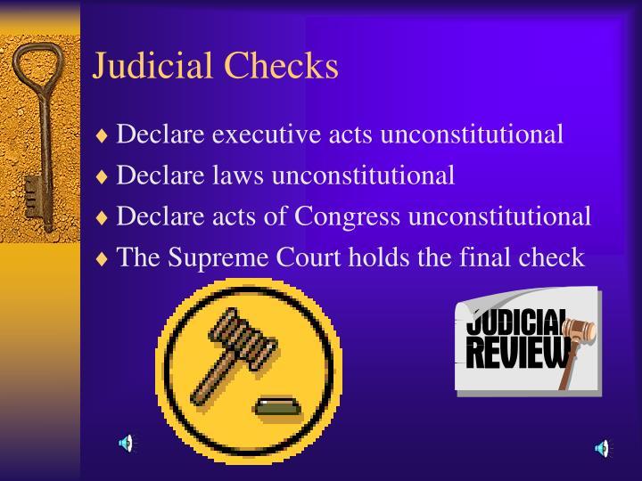 Judicial Checks