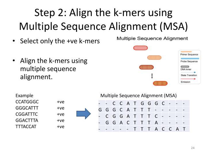Step 2: Align the k-
