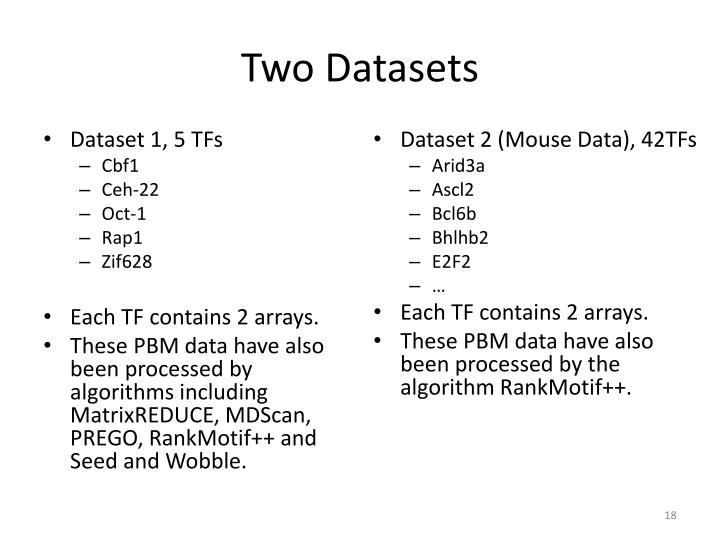 Two Datasets