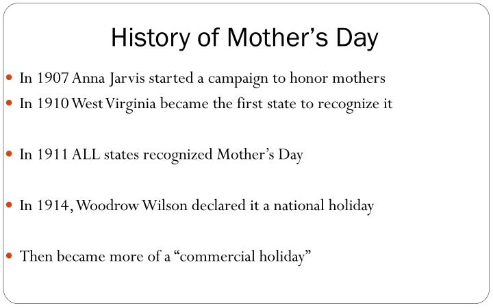 History of Mother's Day