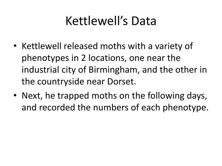 Kettlewell's Data