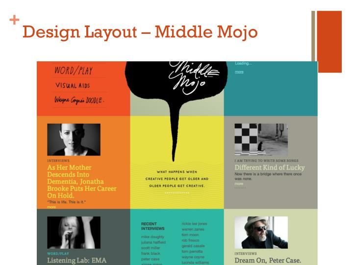 Design layout middle mojo