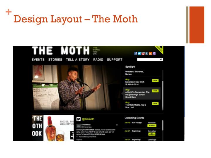 Design Layout – The Moth