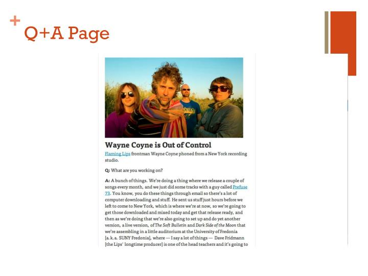 Q+A Page