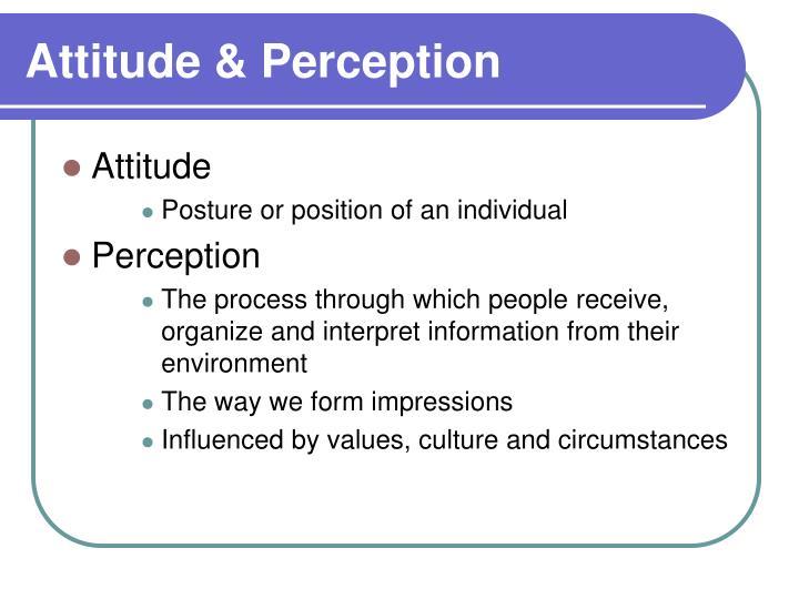 Attitude & Perception