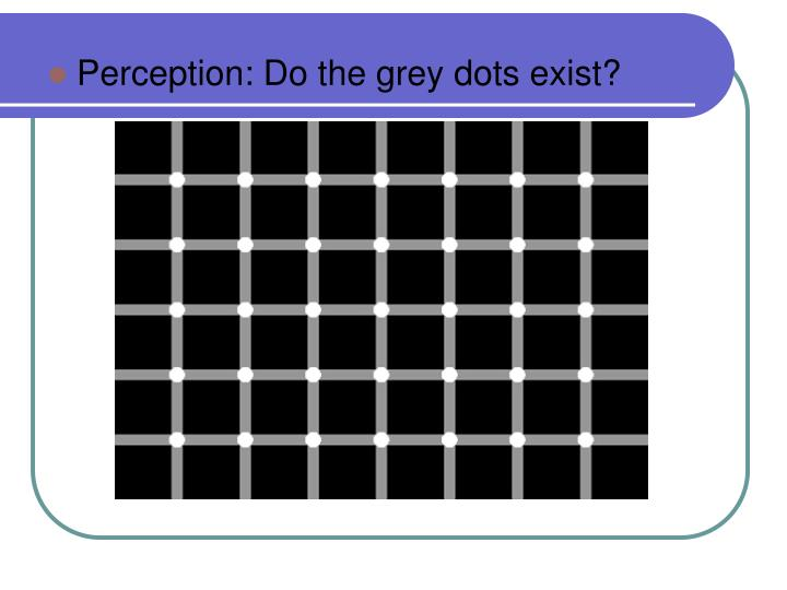 Perception: Do the grey dots exist?