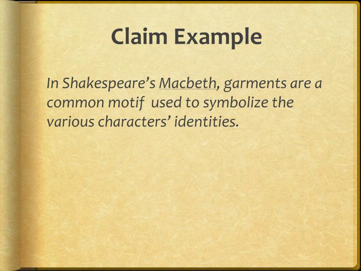 Claim example
