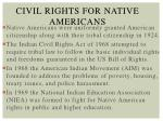 civil rights for native americans