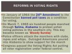 reforms in voting rights