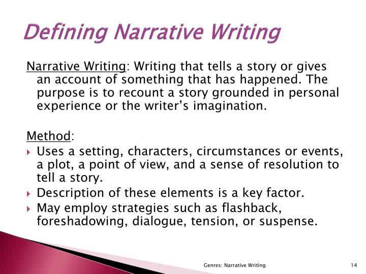 Defining Narrative Writing