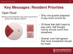 key messages resident priorities4