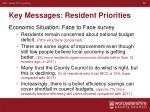 key messages resident priorities5