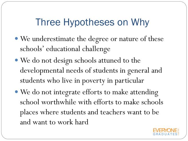 Three Hypotheses on Why