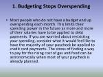 1 budgeting stops overspending