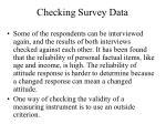 checking survey data