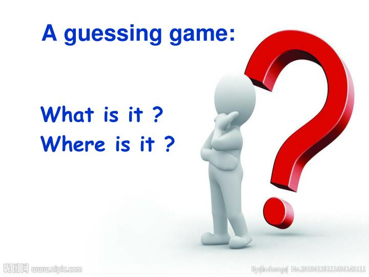 A guessing game: