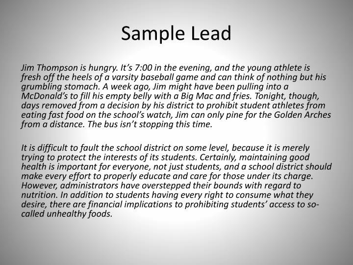 Sample Lead