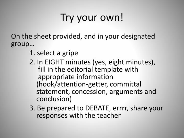 Try your own!