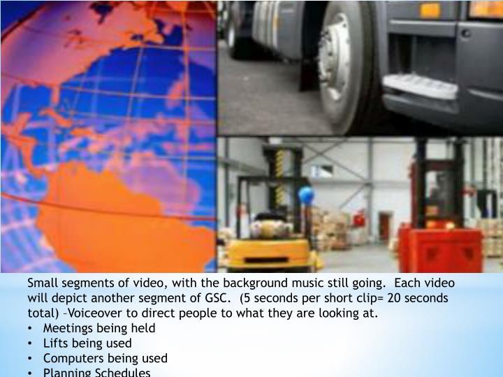 Small segments of video,
