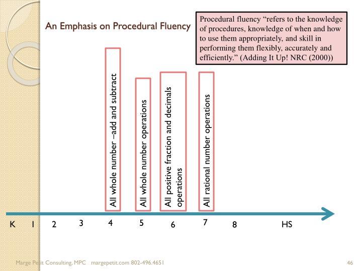 An Emphasis on Procedural Fluency