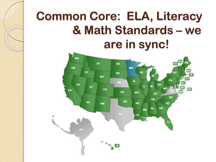 Common Core:  ELA, Literacy