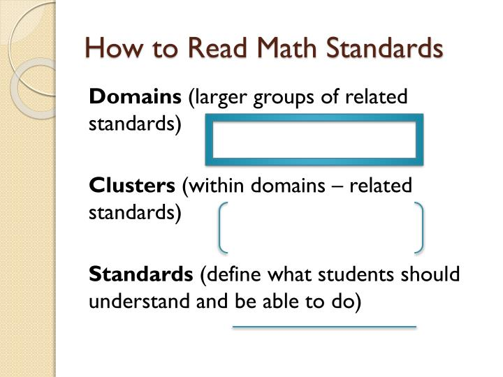 How to Read Math Standards